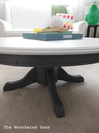 coffee table round pedestal coffee table been shabby chic with