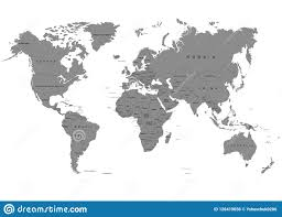 The Earth World Map On White Background Antarctica Vector