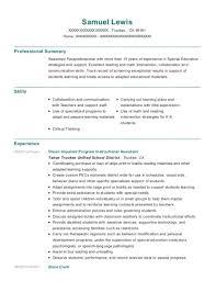 Best Special Education Instructional Assistant Resumes Resumehelp