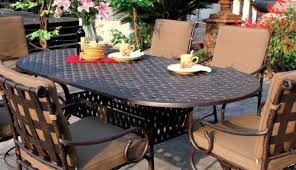 lunburg swivel sets and s oval cool aluminum tables hallandale dining for patio sand white furniture