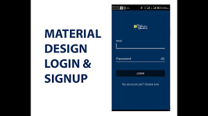 Android Material Design Login Form Xml Ui Design Android Material Design Login Signup Template