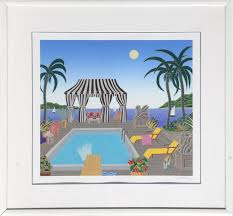 thomas mcknight lake worth from the palm beach suite serigraph