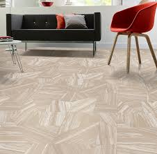 streaky jaspe style vinyl sheet flooring could be great for a retro modern home