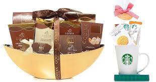 amazon iva chocolatier gift basket and starbucks mug gift set only 49 99 shipped hip2save