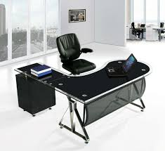 black and silver glass desk from homebase in southsea hampshire intended for black glass desk