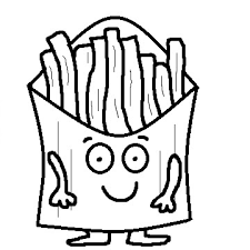 french fries clipart black and white. Plain Clipart French Fries Pictures In Clipart Black And White