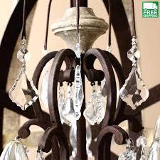chandeliers metal orb chandelier wooden mixed crystal 5 light free weathered home depot