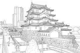 阪神電車の沿線風景を描いた大人気の塗り絵シリーズの無料配布79火
