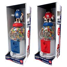 MM Candy Vending Machine Delectable MM's Character Red White Blue 48 Dispenser Great Service