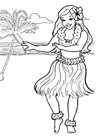 Printable Luau Coloring Pages Coloring Me
