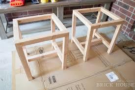 How to Make Farmhouse Leather Footstools | LittleRedBrickHouse.com