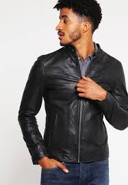 gallery leather jacket black