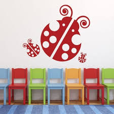 ladybug wall decals personalized vinyl