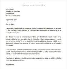 Letter To Terminate Contract With Supplier Office Contract Termination Letter Office Contract