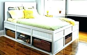 Bed Frame With Storage Drawers Affordable Bed Frames With Storage ...