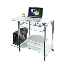 modern clear glass computer desk for home images