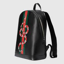 gucci bags backpack. gucci web and kingsnake print leather backpack detail 2 bags