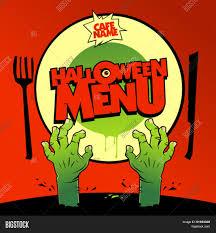Halloween Menu Design Halloween Menu Card Vector Photo Free Trial Bigstock