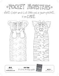 Color Your Own Pocket Monster From