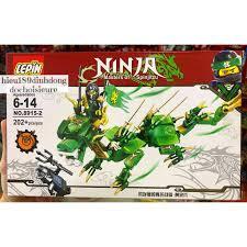 Lắp ráp xếp hình lego ninjago 8915 mẫu 2 : Rồng xanh chiến đấu của ninja  xanh lá lloyd, giá chỉ 99,000đ! Mua ngay kẻo hết!
