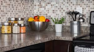 Food ingredients and herbs on kitchen countertop