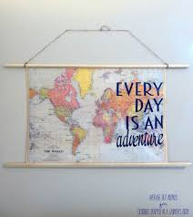 high impact project that is the perfect way to fill any blank wall in your home and help ignite your wander easy diy travel e map art