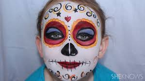 day of the dead diy face paint
