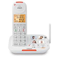 amplified cordless phone with answering system big ons extra loud ringer smart call blocker