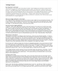 College Admission Essay Topics Essay Example For College Example Essay Questions College Days Essay