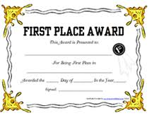 First Place Award Template