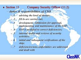 security officer duties and responsibilities isps code international ship and port facility security code ppt