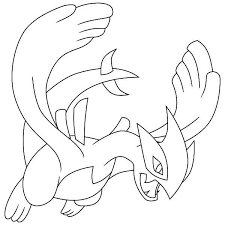 Small Picture Lugia Legendary Pokemon Coloring Page Pokemon Coloring Pages