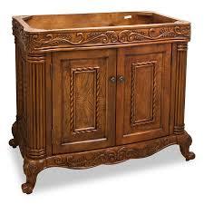 39 Bathroom Vanity 39 Burled Ornate Bathroom Vanity Single Sink Cabinet Bathroom