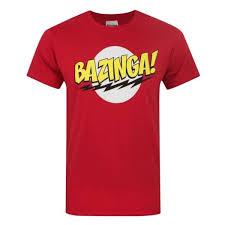 Theory Men S Size Chart The Big Bang Theory Official Mens Bazinga T Shirt