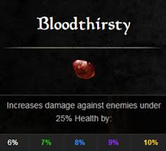 jewelry bloodthirsty infused and robust arcane are the most effective ones