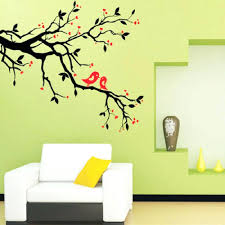 blossom tree wall decal tree branch love birds cherry blossom wall decor  decals removable tree branch