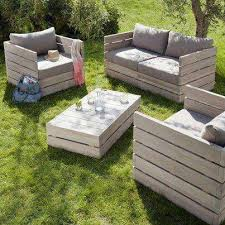 Furniture, Garden Furniture Pallets DIY Outdoor Furniture Elegant Unique  Amazing Wooden Table Chair Umbrella Back Yard Interesting Gray Spons Back  Yard ...