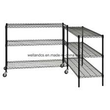 nsf multifunction basic 3 shelf adjule metal wire display shelving unit and accessories