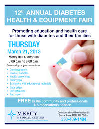 Health Fair Flyers Mercy To Hold Diabetes Fair