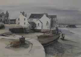 DOROTHY BRUCE The ship, Kirkcudbright, watercolour, signed lower left, 40cm  x 28cm
