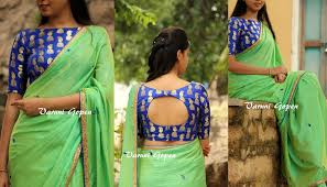 Blue Color Saree Blouse Designs Pin By Cool On Cool Saree Blouses 8 Blouse Designs Saree