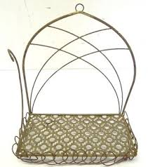 vintage rustic wire iron hanging small bathroom shabby chic holder rack