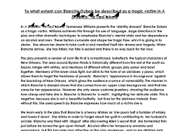 to what extent can blanche dubois be described as a tragic victim  document image preview