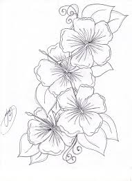 Hibiscus Flowers Tattoo Sketch