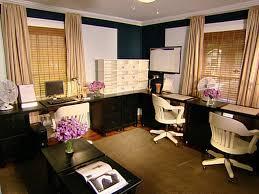 office bedroom design. Bedroom. Engaging Design Ideas Using U Shaped Black Wooden Desks And Round Cream Leather Swivel Office Bedroom