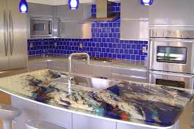 image of recycled glass countertops cost vs granite