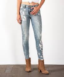 Fidelity Jeans Size Chart Fidelity Denim Floral Sola Cherry Blossom Skinny Jeans Women