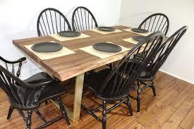 Live Edge Walnut Dining Table On Steel Angle Legs Custom Etsy