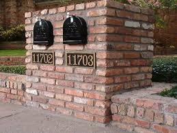 stone mailbox designs. Double Brick Mailbox Designs | Gestablishment Home Ideas : Classy Stone