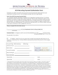 school forms montessori school of peoria ach tuition authorization form